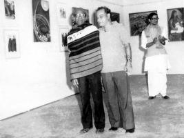 1977 EXHIBITION WITH ARTIST FRIEND PROSENJIT DUARA