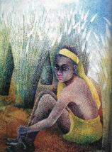 ASUDEV'S PAINTING 'IN THE CORNFIELD'